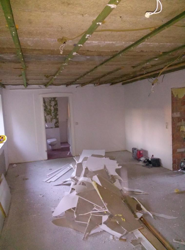 Deckenabriss Arbeitszimmer